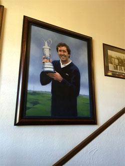 Seve's portrait in the clubhouse