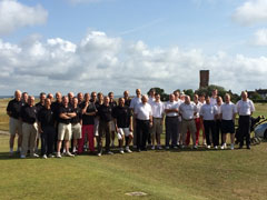The Two teams at Littlstone Golf Club