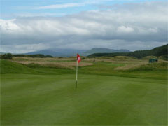 The rough at Harlech was long and punishing