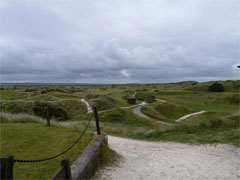 The first hole on the East Course at Saunton
