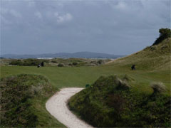 The second hole on the West Course at Saunton