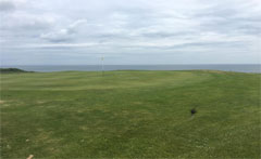 View out to sea from 5th green